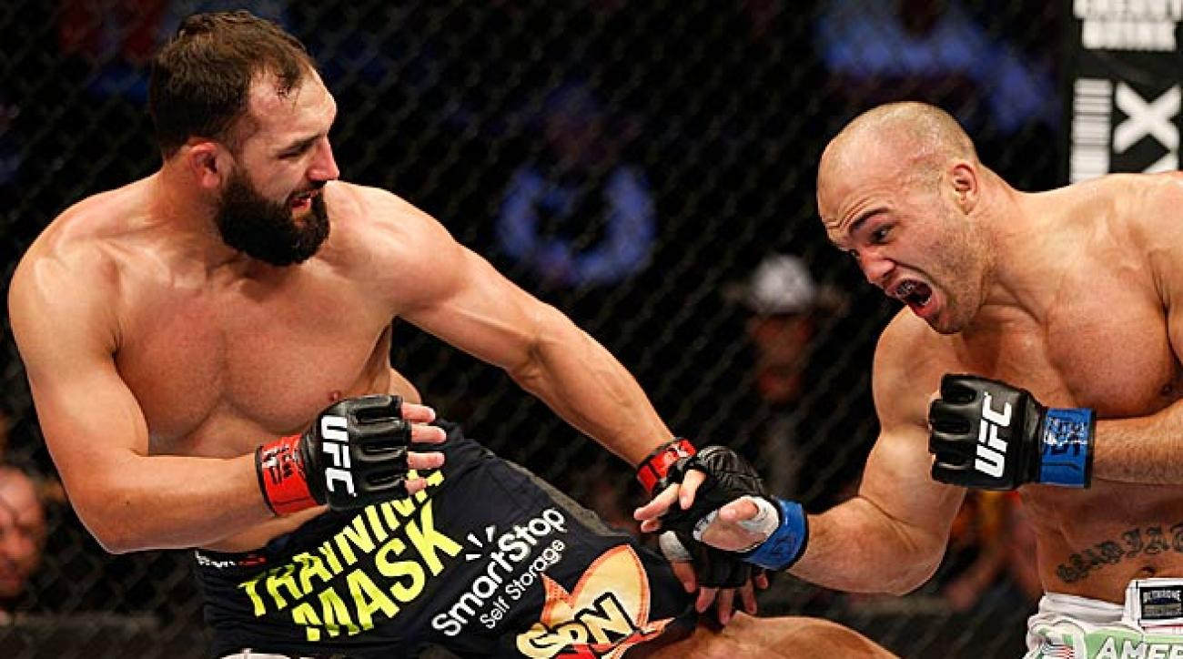 Johny Hendricks (left) defeated Robbie Lawler at UFC 171 to reward his backers at Team Takedown.