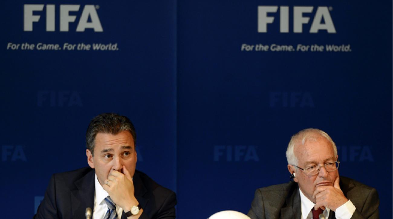 American Michael Garcia, left, has been tasked with leading an ethical probe into the hosting bids for the 2018 and 2022 World Cups.