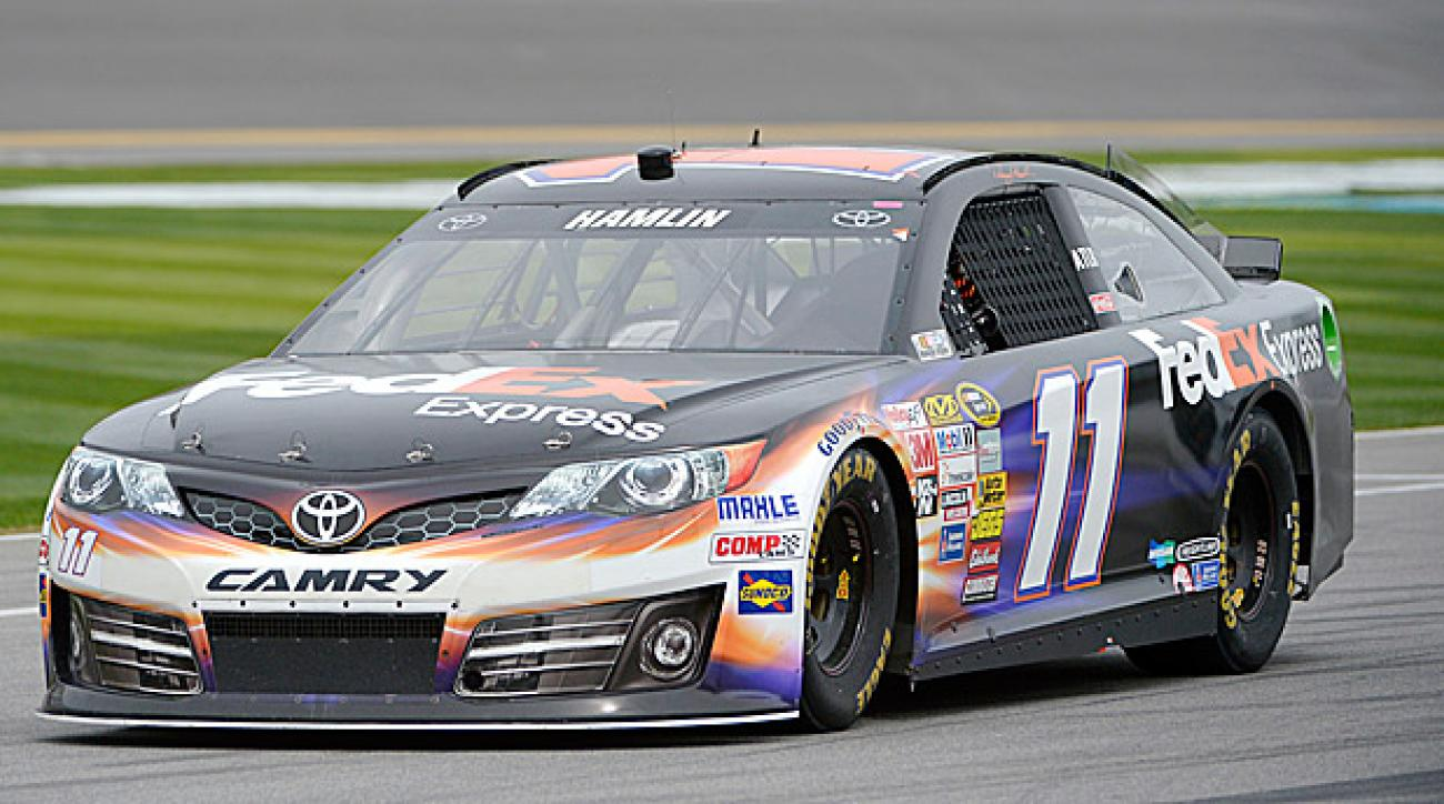 Celebrity shootout host Denny Hamlin is offering fans a chance to display their names on his car.