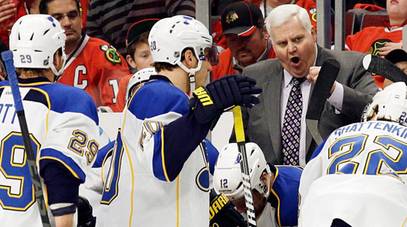 Can't anybody here play this game when it counts? The Blues lack killer instinct, says their coach.