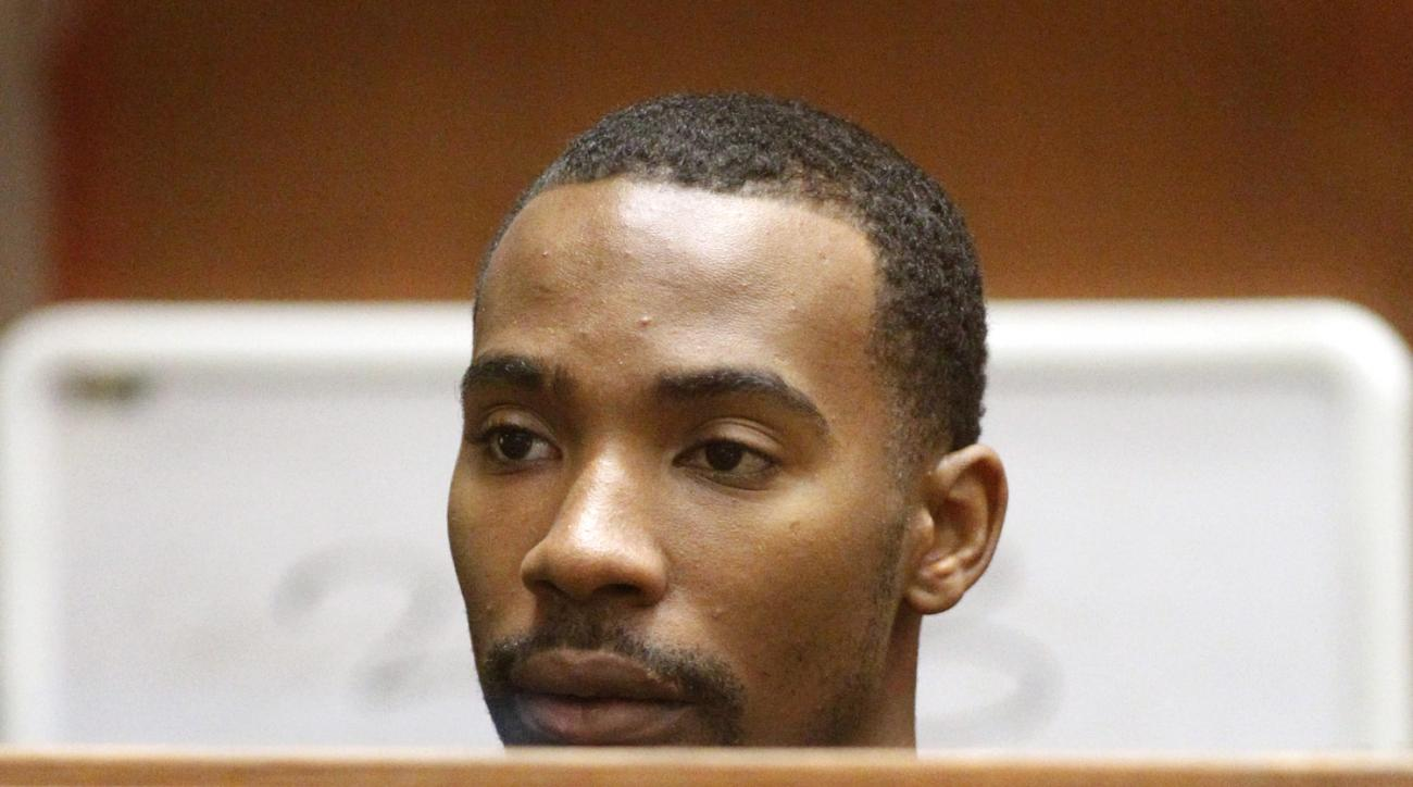 LOS ANGELES, CA - AUGUST 31:  Former Los Angeles Lakers guard Javaris Crittenton appears in Los Angeles Superior Court for an extradition hearing August 31, 2011 in Los Angeles, California. The hearing wasin connection with a warrant from Atlanta charging