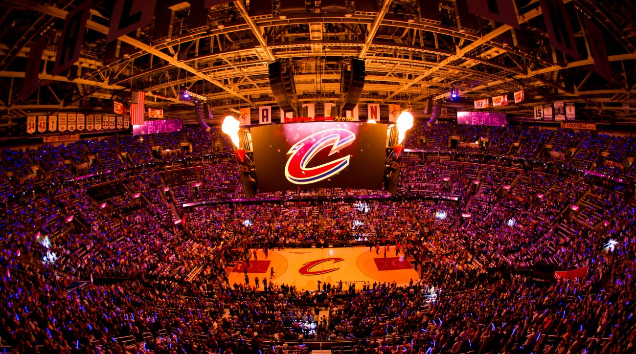 CLEVELAND, OH - MAY 6: The Cleveland Cavaliers get introduced before a game against the Chicago Bulls in Game Two of the Eastern Conference Semifinals during the 2015 NBA Playoffs on May 6, 2015 at Quicken Loans Arena in Cleveland, Ohio.  (Photo by Reid K