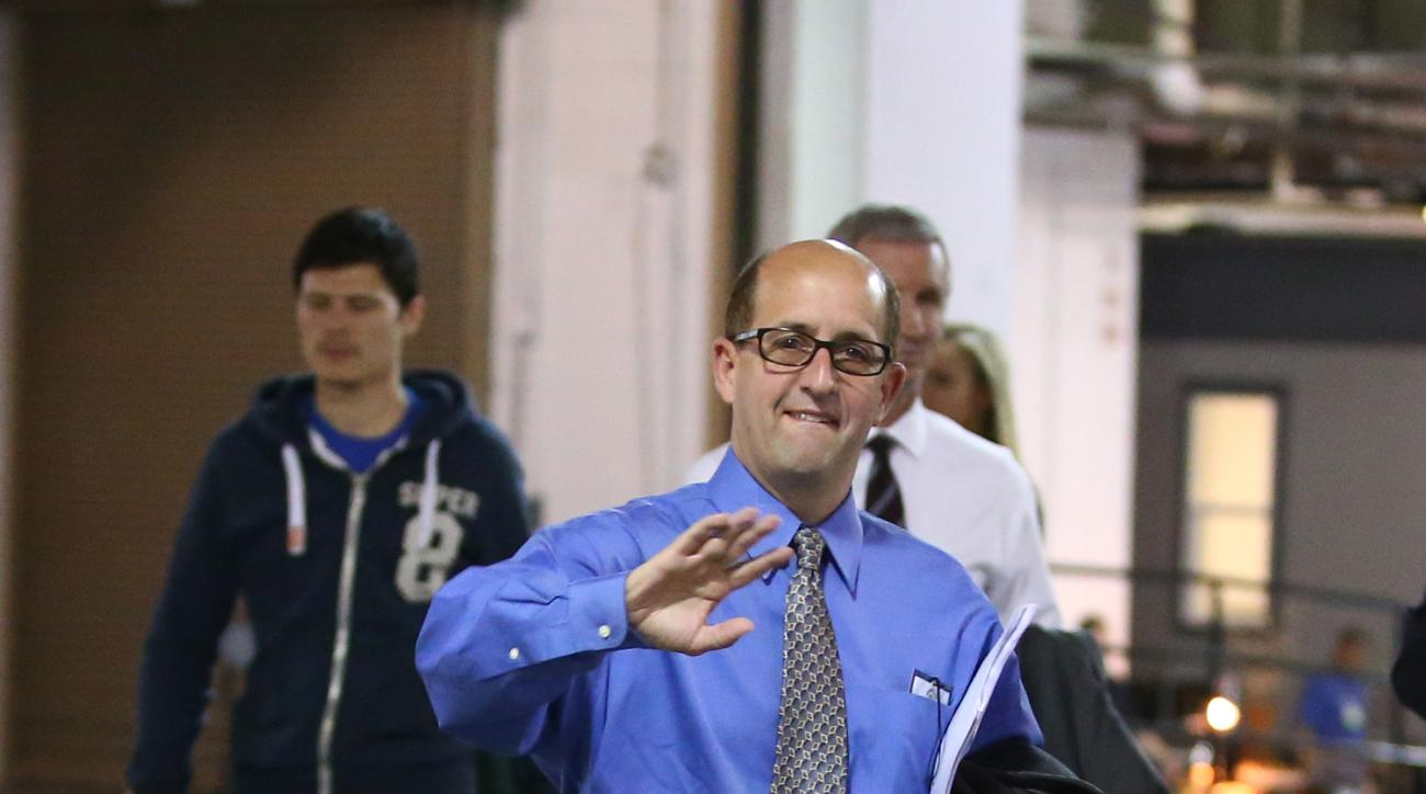 INDIANAPOLIS - MAY 18: ESPN Anaylist Jeff Van Gundy smiles for the camera prior to the Indiana Pacers against the Miami Heat in game one of the East Conference Finals at Bankers Life Fieldhouse on May 18, 2014 in Indianapolis, Indiana.  (Photo by Nathanie