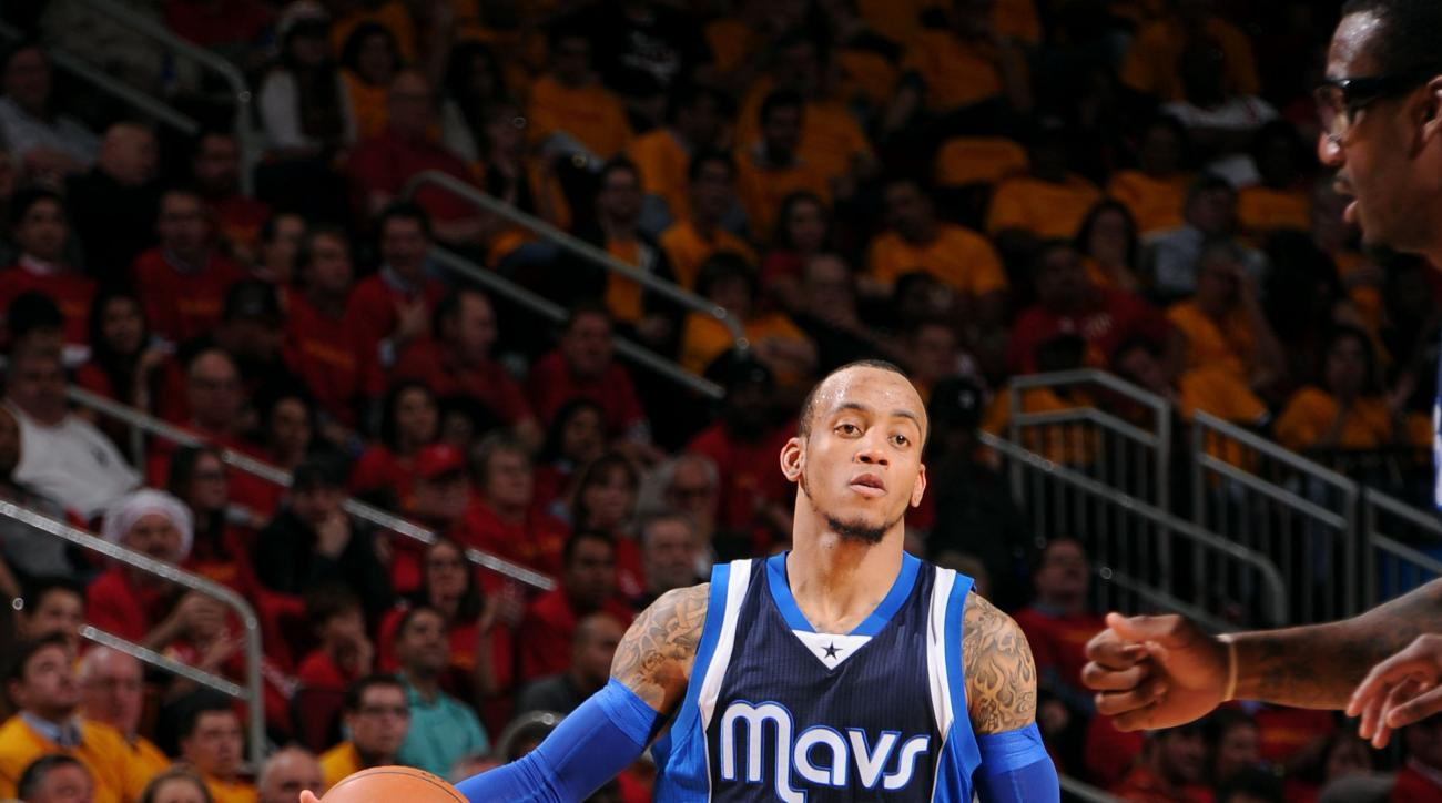 HOUSTON, TX - APRIL 28: Monta Ellis #11 of the Dallas Mavericks drives against the Houston Rockets in Game Five of the Western Conference Quarterfinals during the NBA Playoffs on April 28, 2015 at the Toyota Center in Houston, Texas. (Photo by Bill Baptis