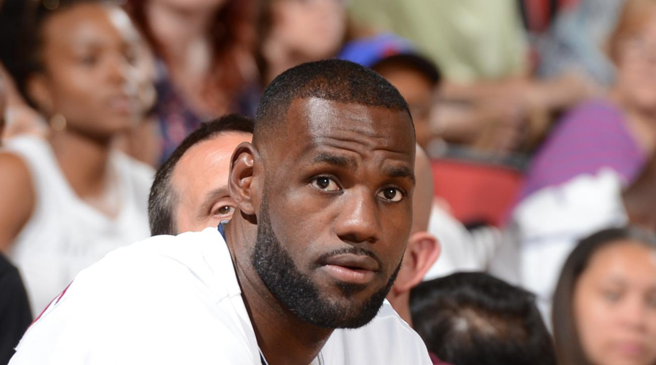 LAS VEGAS, NV - JULY 17: LeBron James #23 of the Cleveland Cavaliers attends the summer league game against the Minnesota Timberwolves on July 17, 2015 at the Cox Pavilion in Las Vegas, Nevada.  (Photo by Garrett Ellwood/NBAE via Getty Images)