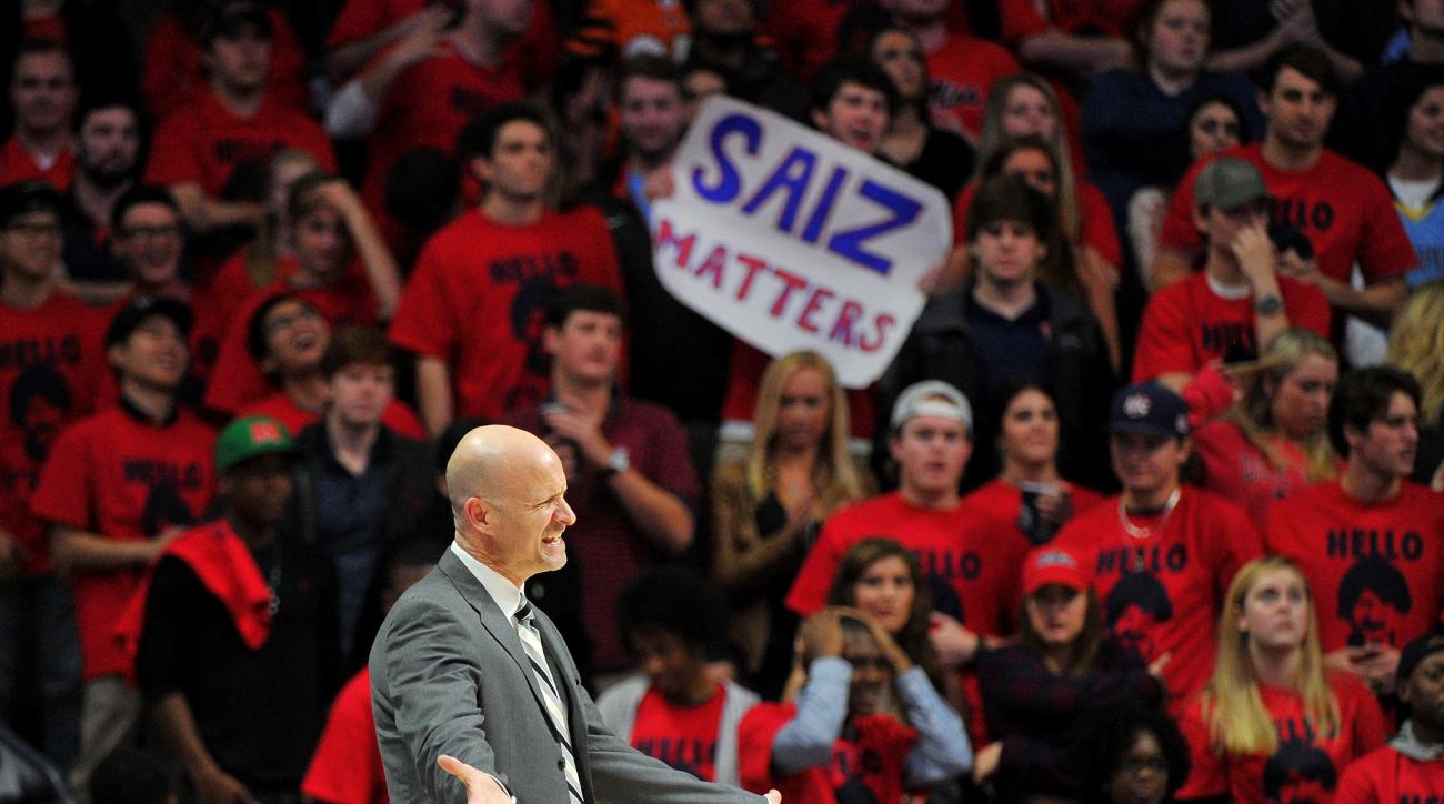 Mississippi head coach Andy Kennedy reacts during the second half of an NCAA college basketball game against Georgia in Oxford, Miss., Saturday, Jan. 9, 2016. Mississippi won 72-71. (AP Photo/Thomas Graning)