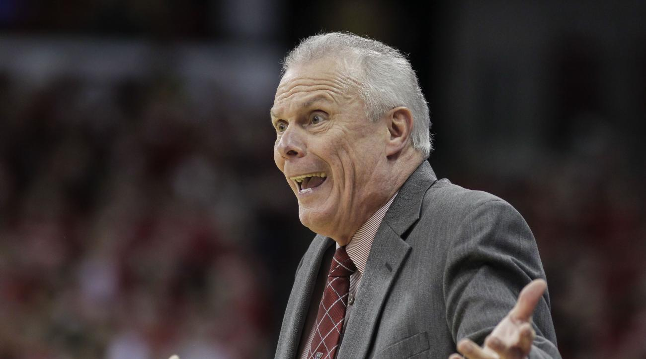 Wisconsin coach Bo Ryan during the first half of an NCAA college basketball game against Milwaukee Wednesday, Dec. 9, 2015, in Madison, Wis. (AP Photo/Andy Manis)