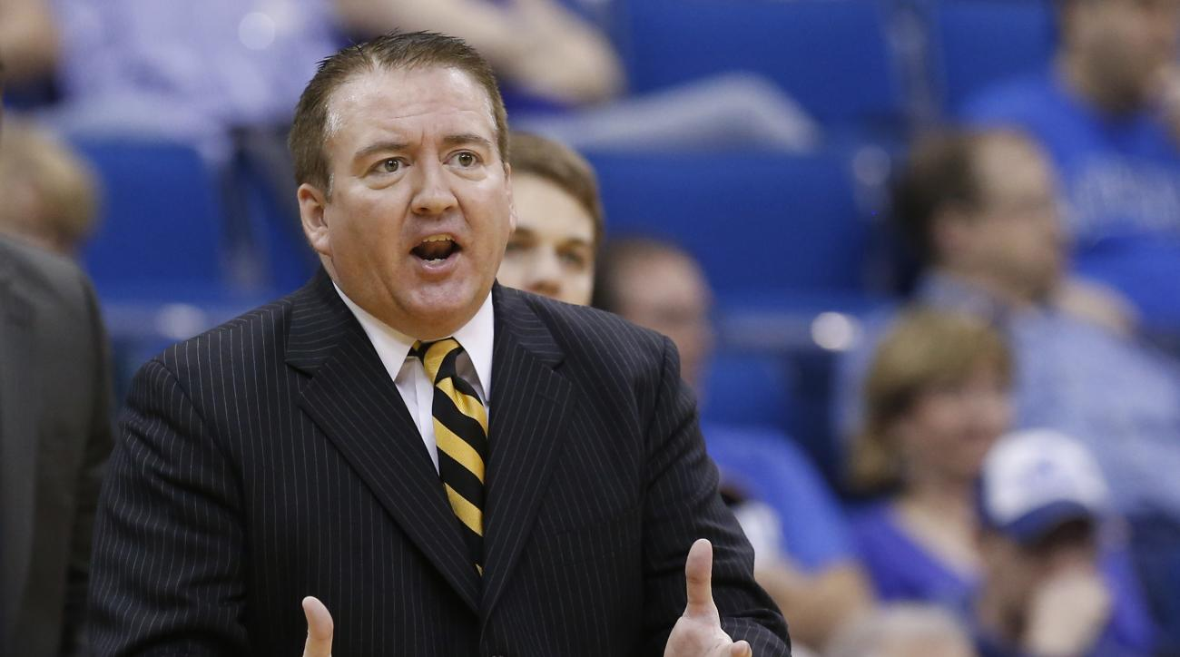 FILE - In this March 16, 2013, file photo, then-Southern Miss head coach Donnie Tyndall gestures during the championship game in the Conference USA men's NCAA college basketball tournament in Tulsa, Okla  Former Southern Mississippi basketball coach Donni