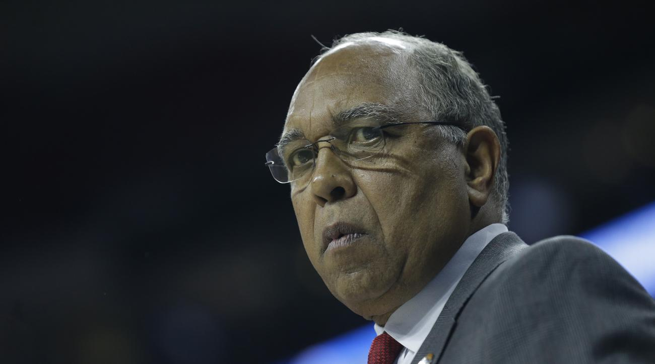 Texas Tech head coach Tubby Smith during a first-round men's college basketball game in the NCAA Tournament against Butler, Thursday, March 17, 2016, in Raleigh, N.C. (AP Photo/Gerry Broome)