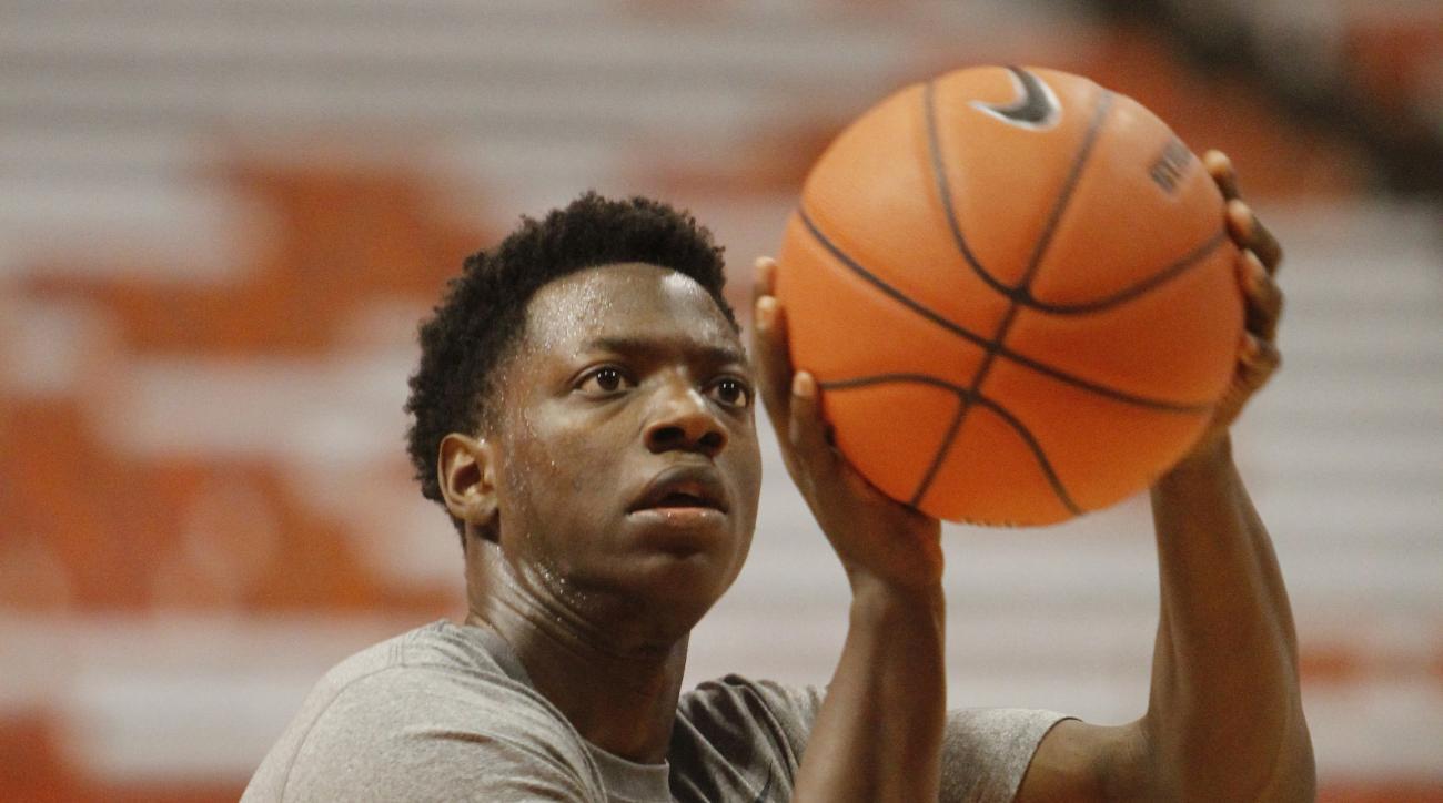 Syracuses Kaleb Joseph shoots before an NCAA college basketball exhibition game against Le Moyne in Syracuse, N.Y., Monday, Nov. 2, 2015. (AP Photo/Nick Lisi)
