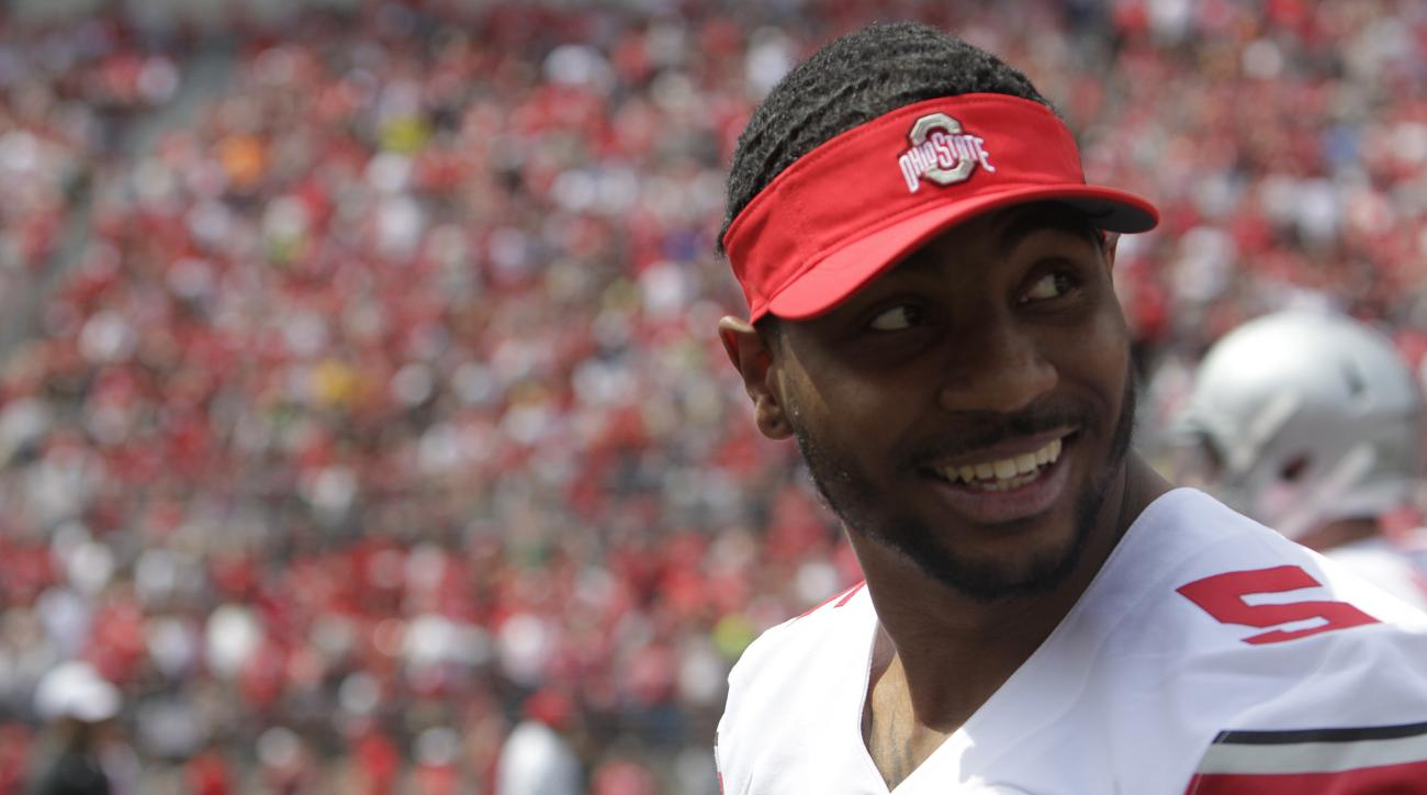 Ohio State quarterback Braxton MIller during Ohio State's NCAA college football Spring game Saturday, April 18, 2015, in Columbus, Ohio. (AP Photo/Jay LaPrete)