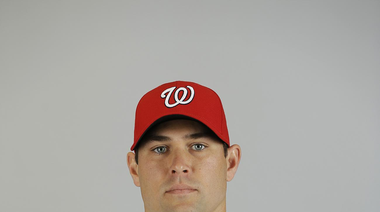 This is a 2015 photo of Craig Stammen of the Washington Nationals baseball team. This image reflects the 2015 active roster as of Sunday, March 1, 2015 when this image was taken. (AP Photo/David Goldman)