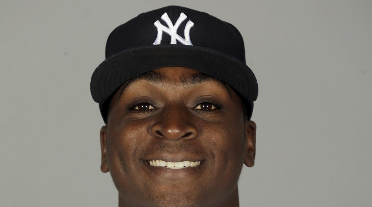 FILE - This is a 2015, file photo showing Didi Gregorius of the New York Yankees baseball team.  (AP Photo/Chris O'Meara, File)