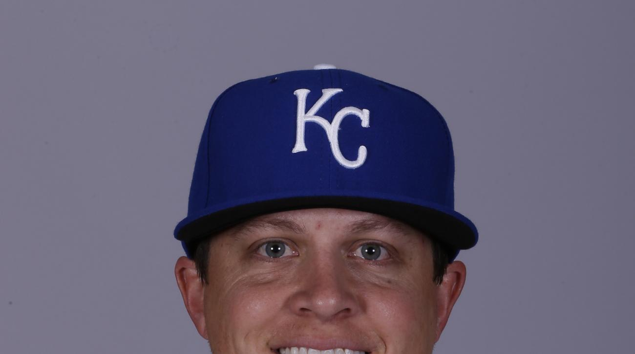 This is a 2015 photo of Kris Medlen of the Kansas City Royals baseball team. This image reflects the Kansas City Royals active roster as of Friday, Feb. 27, 2015, when this image was taken. (AP Photo/Charlie Riedel)