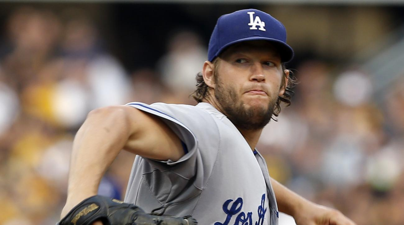 Los Angeles Dodgers starting pitcher Clayton Kershaw throws against the Pittsburgh Pirates in the first inning of a baseball game, Friday, Aug. 7, 2015, in Pittsburgh. (AP Photo/Keith Srakocic)