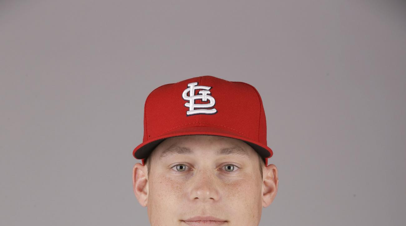 This is a 2015 photo of Cody Stanley of the St. Louis Cardinals baseball team. This image reflects the Cardinals active roster as of Monday, March 2, 2015, when this image was taken. (AP Photo/Jeff Roberson)