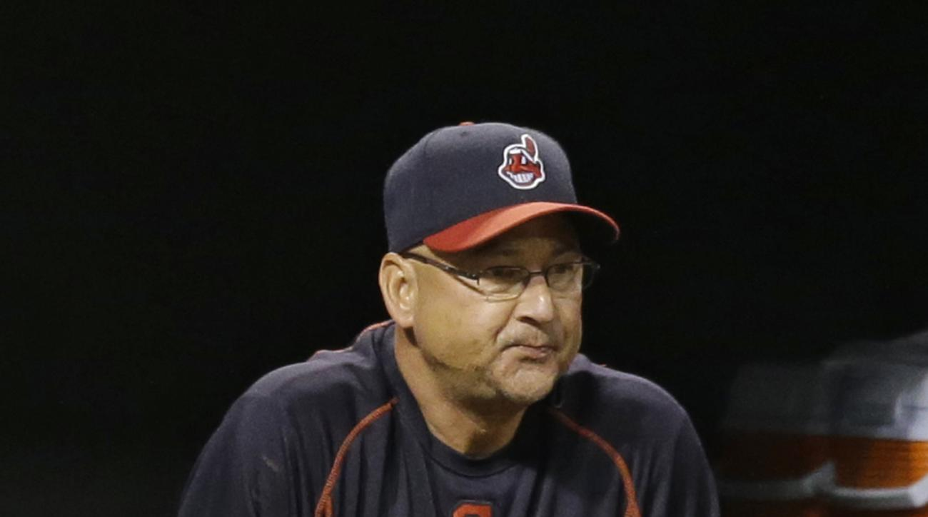 This Monday, Sept. 14, 2015 photo shows Cleveland Indians manager Terry Francona watching during a baseball game between the Kansas City Royals and the Cleveland Indians, in Cleveland. With a September surge, the Indians have Francona feeling great.  (AP