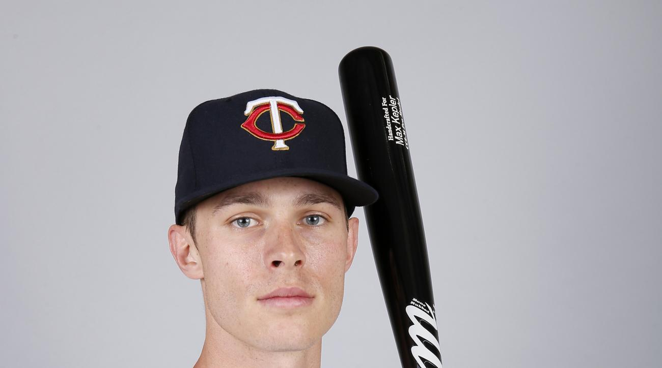 This is a 2015 photo of Max Kepler of the Minnesota Twins baseball team. This image reflects the Twins active roster as of Tuesday March 3, 2015, when this image was taken. (AP Photo/Tony Gutierrez)