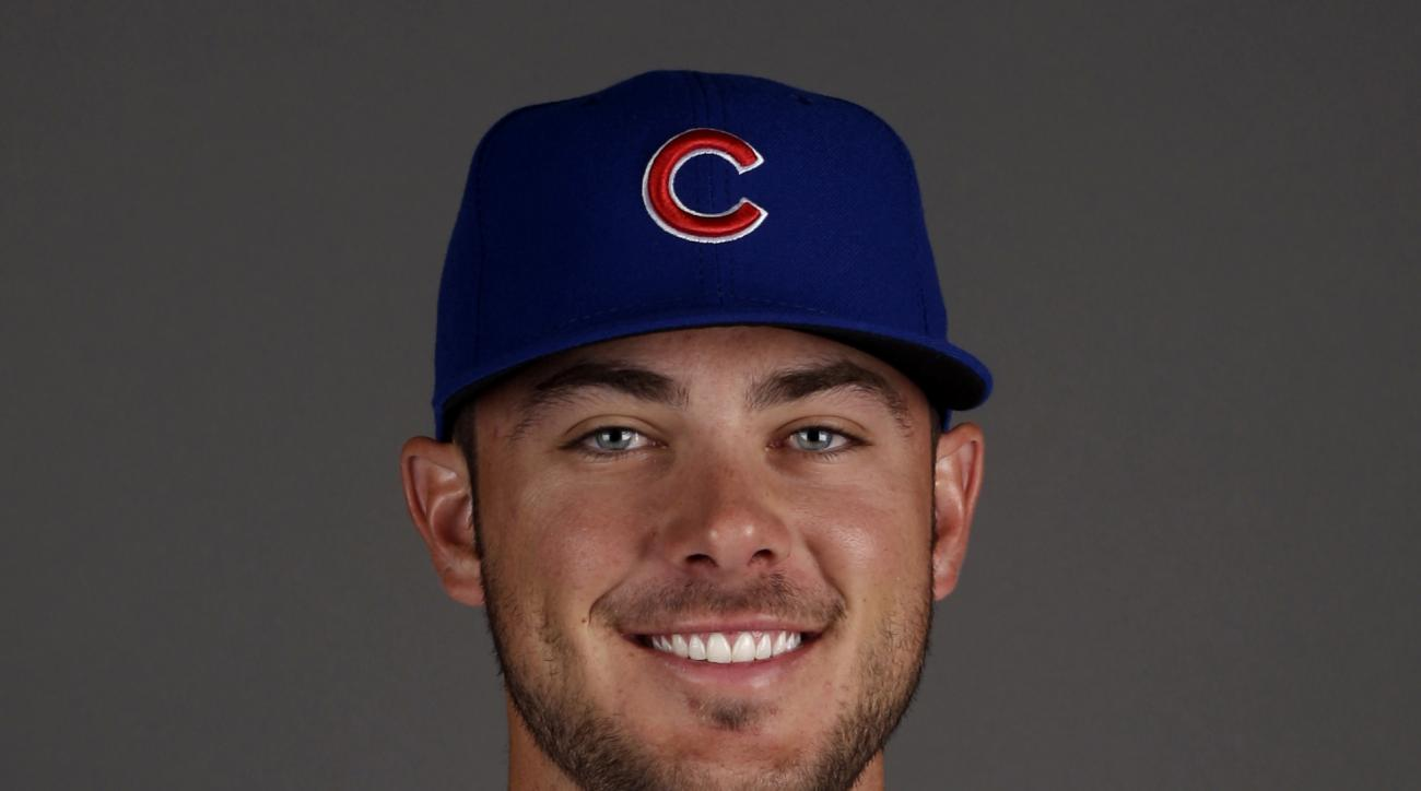 FILE -This  2015 file photo shows Chicago Cubs' Kris Bryant, who was selected as the NL Rookie of the Year on Monday, Nov. 16, 2015. (AP Photo/Morry Gash, File)