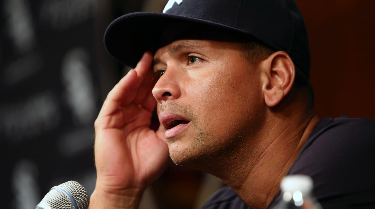 FILE - In this Aug. 5, 2013, file photo, New York Yankees' Alex Rodriguez speaks during a news conference before the Yankees played the Chicago White Sox in a baseball game in Chicago. Rodriguez was suspended through 2014 that day when Major League Baseba