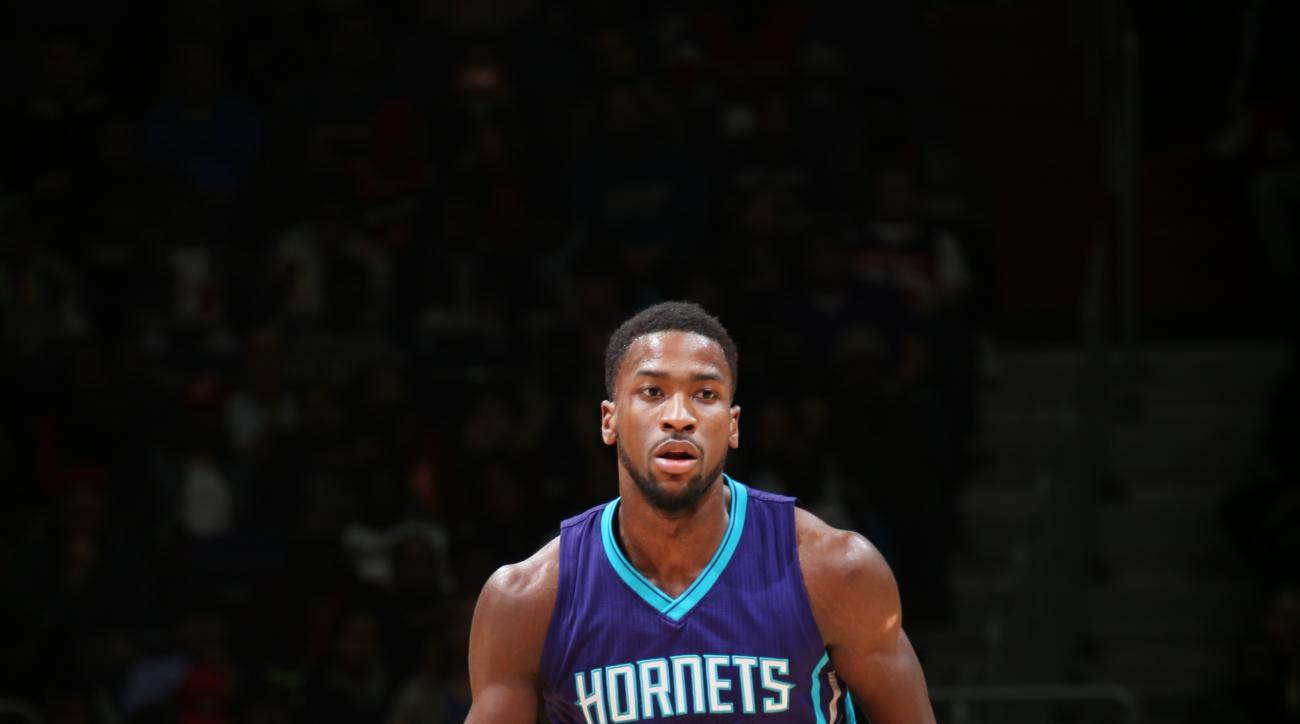 WASHINGTON, DC - MARCH 27: Michael Kidd-Gilchrist #14 of the Charlotte Hornets drives to the basket against the Washington Wizards during the game on March 27, 2015 at Verizon Center in Washington, DC. (Photo by Ned Dishman/NBAE via Getty Images)