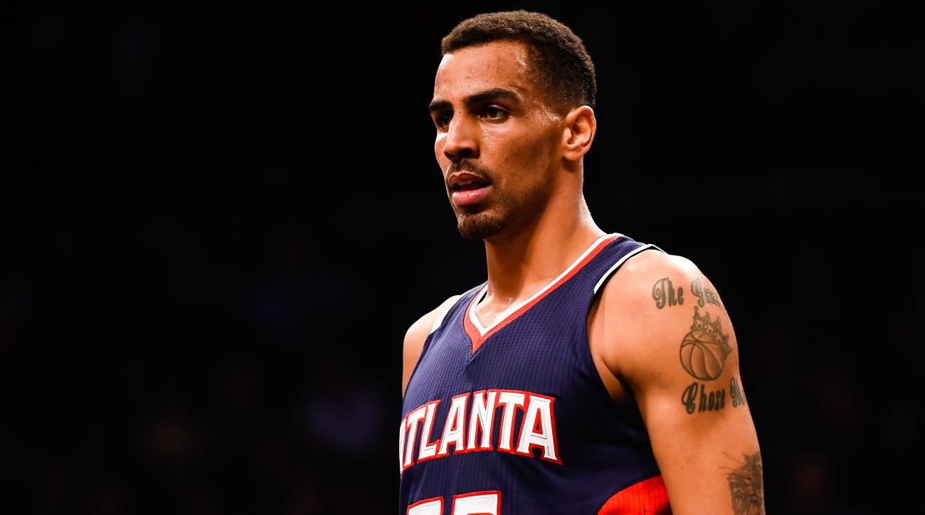 NEW YORK, NY - DECEMBER 05: Thabo Sefolosha #25 of the Atlanta Hawks looks on during a game against the Brooklyn Nets at the Barclays Center on December 5, 2014 in the Brooklyn borough of New York City. (Photo by Alex Goodlett/Getty Images)