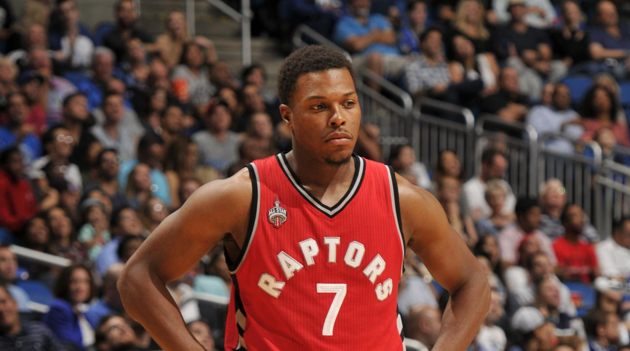 ORLANDO, FL - NOVEMBER 6: Kyle Lowry #7 of the Toronto Raptors during the game against the Orlando Magic on November 6, 2015 at Amway Center in Orlando, Florida. (Photo by Fernando Medina/NBAE via Getty Images)