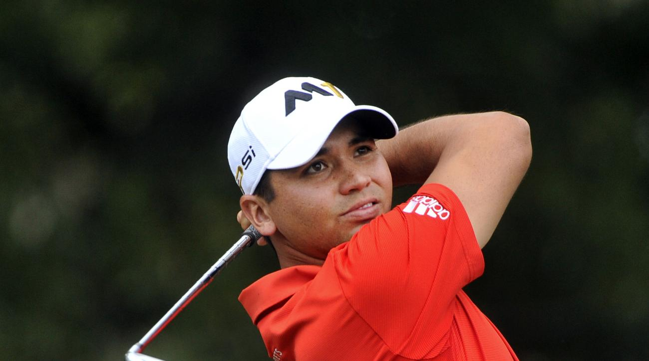 Jason Day tees off on the 12th hole during the first round of the Tour Championship golf tournament at East Lake Club Thursday, Sept. 24, 2015, in Atlanta. (AP Photo/John Amis)
