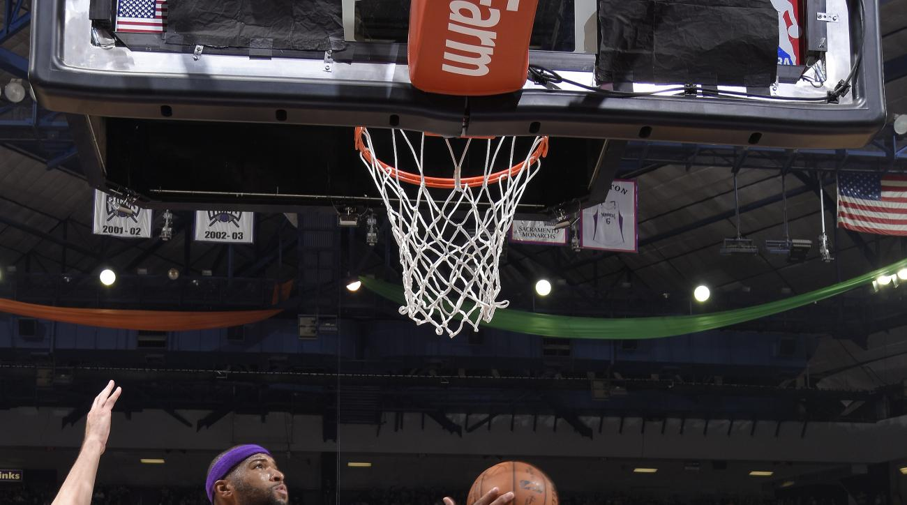 SACRAMENTO, CA - JANUARY 7: DeMarcus Cousins #15 of the Sacramento Kings shoots the ball against the Los Angeles Lakers on January 7, 2016 at Sleep Train Arena in Sacramento, California. (Photo by Rocky Widner/NBAE via Getty Images)