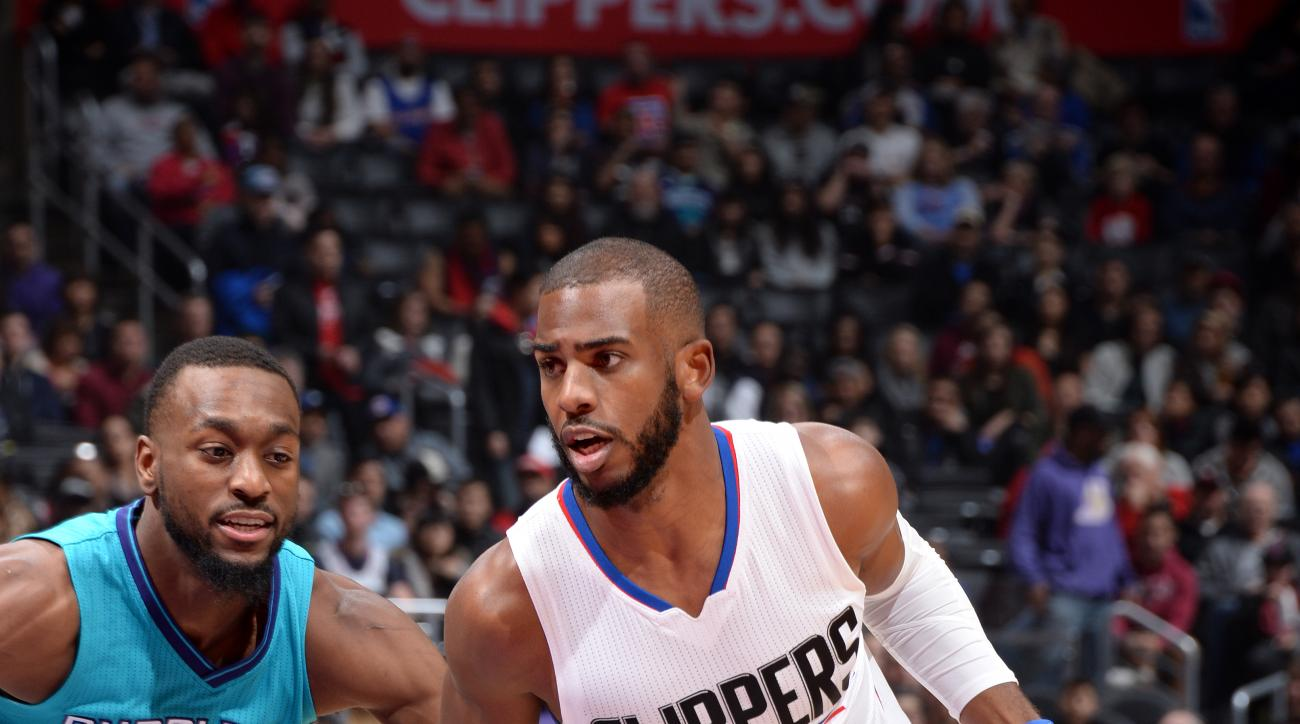 LOS ANGELES, CA - JANUARY 9: Chris Paul #3 of the Los Angeles Clippers drives to the basket during the game against the Charlotte Hornets on January 9, 2016 at STAPLES Center in Los Angeles, California. (Photo by Andrew D. Bernstein/NBAE via Getty Images)
