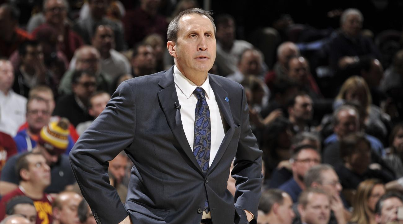 FILE - JANUARY 22: According to reports, head coach of the Cleveland Cavaliers, David Blatt has been fired on January 22, 2016. CLEVELAND, OH - JANUARY 21:  David Blatt of the Cleveland Cavaliers coaches against the Los Angeles Clippers on January 21, 201