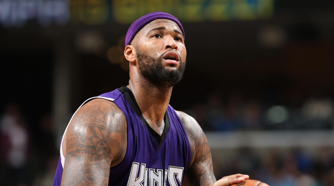MEMPHIS, TN - JANUARY 30:  DeMarcus Cousins #15 of the Sacramento Kings shoots a free throw against the Memphis Grizzlies on January 30, 2016 at FedExForum in Memphis, Tennessee. (Photo by Joe Murphy/NBAE via Getty Images)