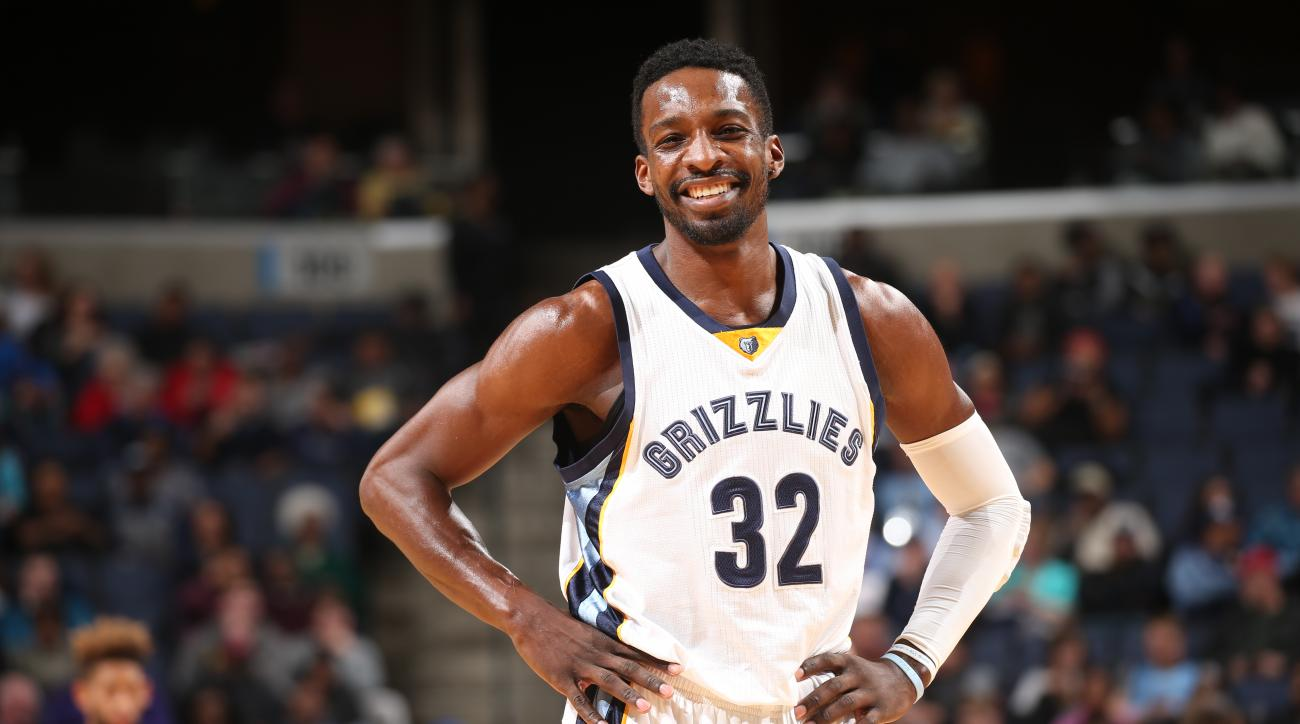 MEMPHIS, TN - FEBRUARY 8:  Jeff Green #32 of the Memphis Grizzlies stands on the court during the game against the Portland Trail Blazers on February 8, 2016 at FedExForum in Memphis, Tennessee. (Photo by Joe Murphy/NBAE via Getty Images)