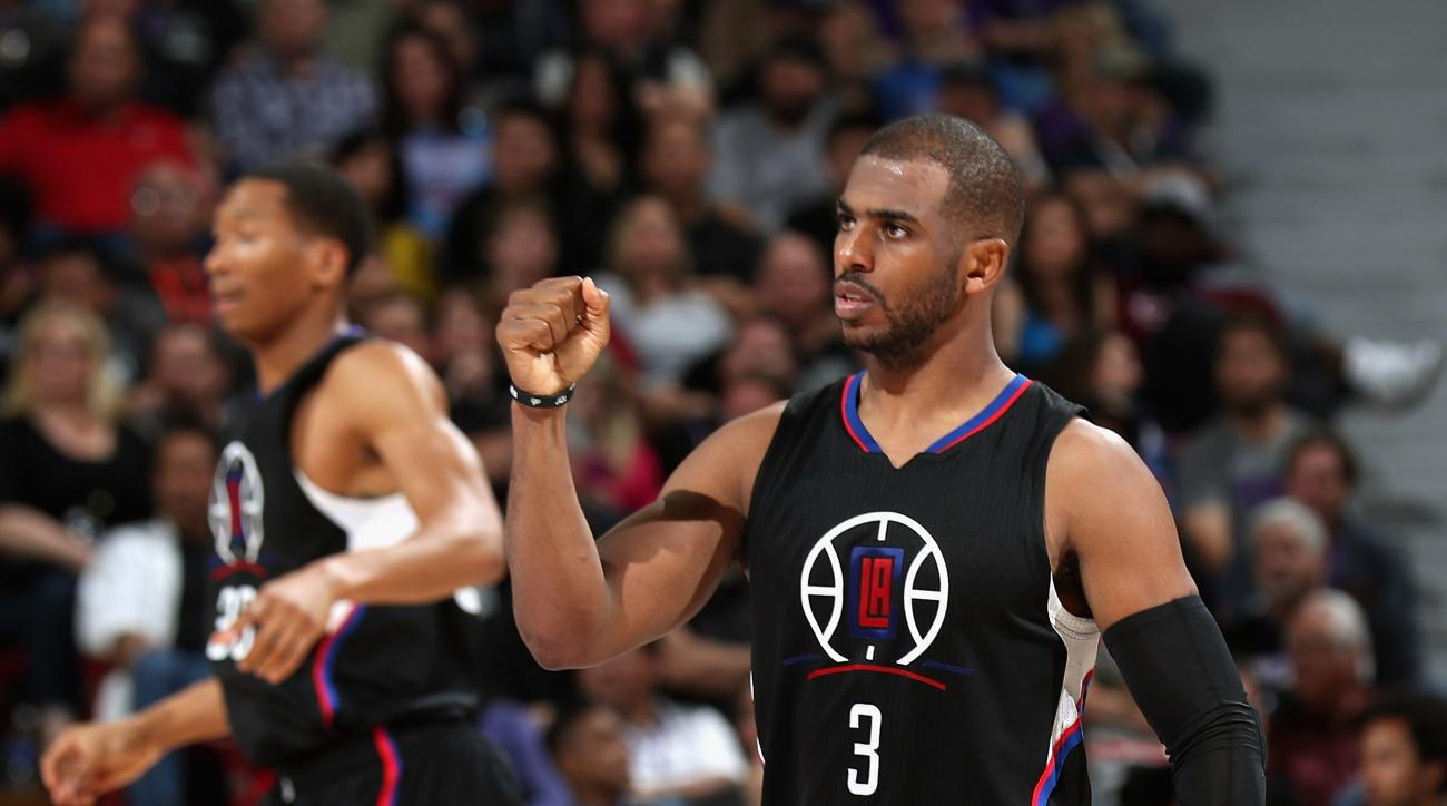 SACRAMENTO, CA - FEBRUARY 26:  Chris Paul #3 of the Los Angeles Clippers reacts after the Clippers made a basket against the Sacramento Kings at Sleep Train Arena on February 26, 2016 in Sacramento, California. (Photo by Ezra Shaw/Getty Images)