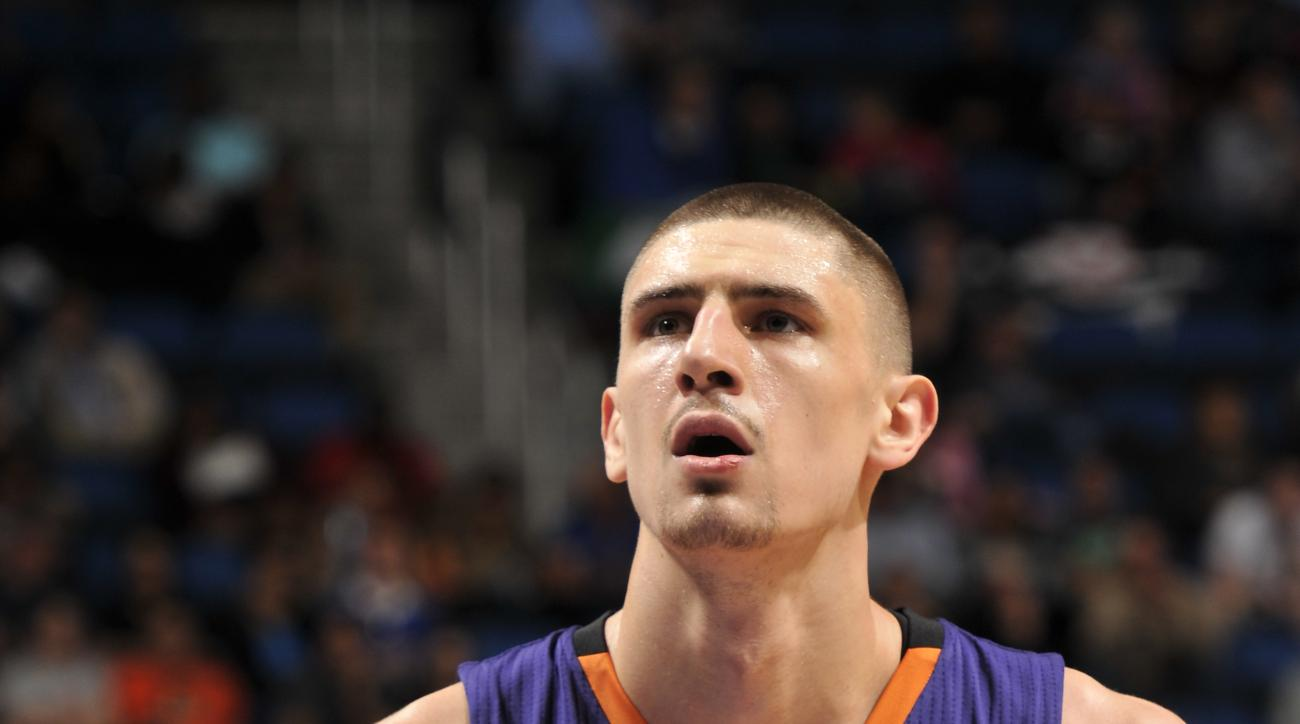 ORLANDO, FL - MARCH 4:  Alex Len #21 of the Phoenix Suns prepares to shoot a free throw against the Orlando Magic on March 4, 2016 at Amway Center in Orlando, Florida. (Photo by Fernando Medina/NBAE via Getty Images)