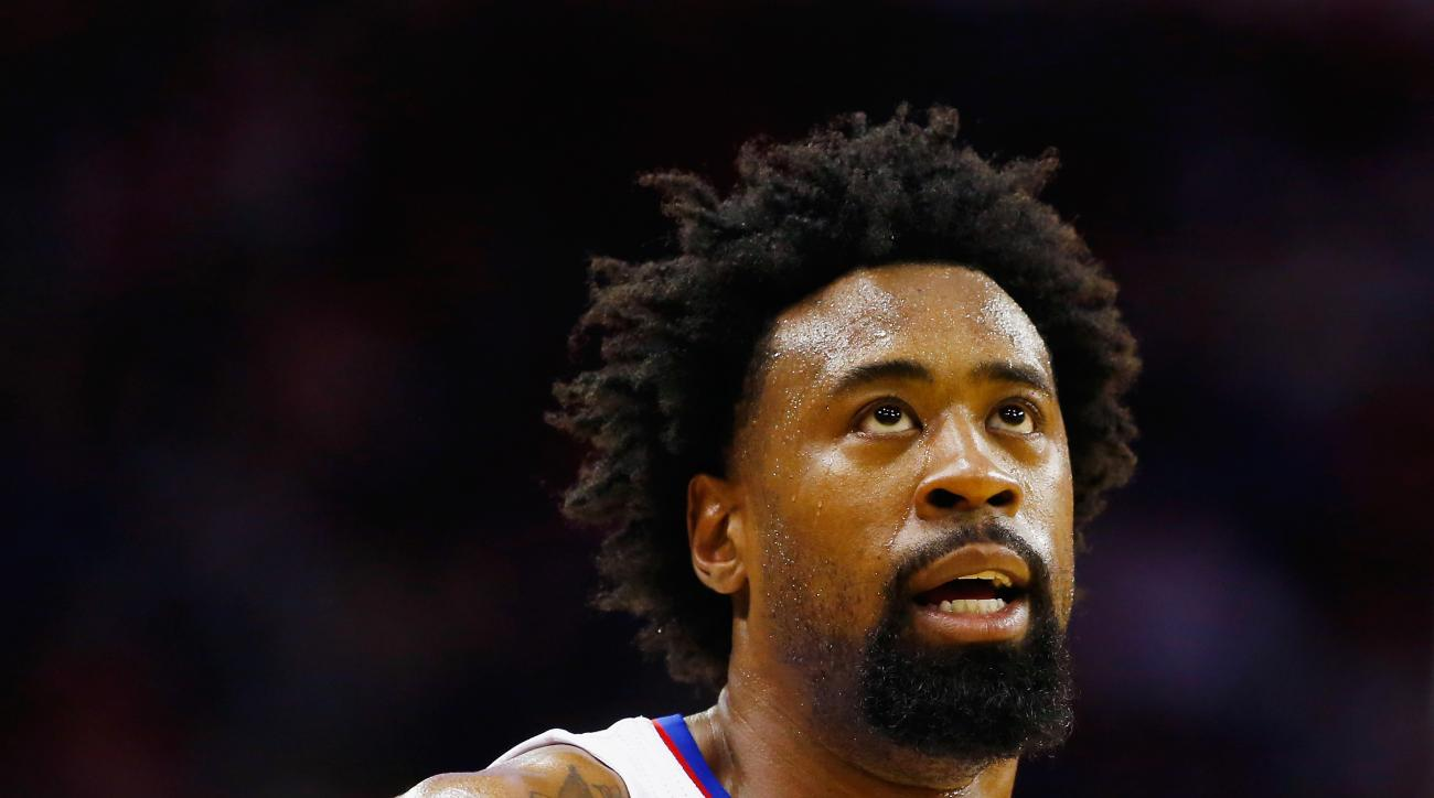 HOUSTON, TX - MARCH 16:  DeAndre Jordan #6 of the Los Angeles Clippers waits on the court during their game against the Houston Rockets at the Toyota Center on March 16, 2016 in Houston, Texas.  (Photo by Scott Halleran/Getty Images)