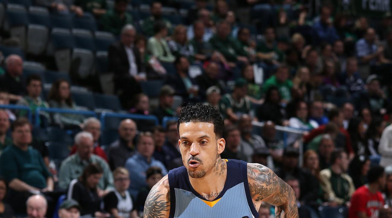 Milwaukee, WI - MARCH 17: Matt Barnes #22 of the Memphis Grizzlies handles the ball during the game against the Milwaukee Bucks on March 17, 2016 at the BMO Harris Bradley Center in Milwaukee, Wisconsin. (Photo by Gary Dineen/NBAE via Getty Images)