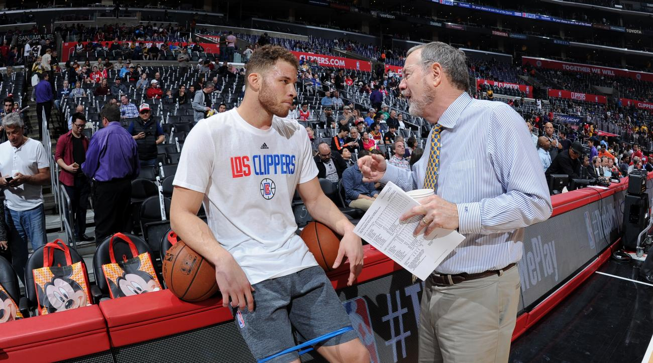 LOS ANGELES, CA - MARCH 13: Blake Griffin #32 of the Los Angeles Clippers is seen during the game against the Cleveland Cavaliers at STAPLES Center on March 13, 2016 in Los Angeles, California. (Photo by Andrew D. Bernstein/NBAE via Getty Images)