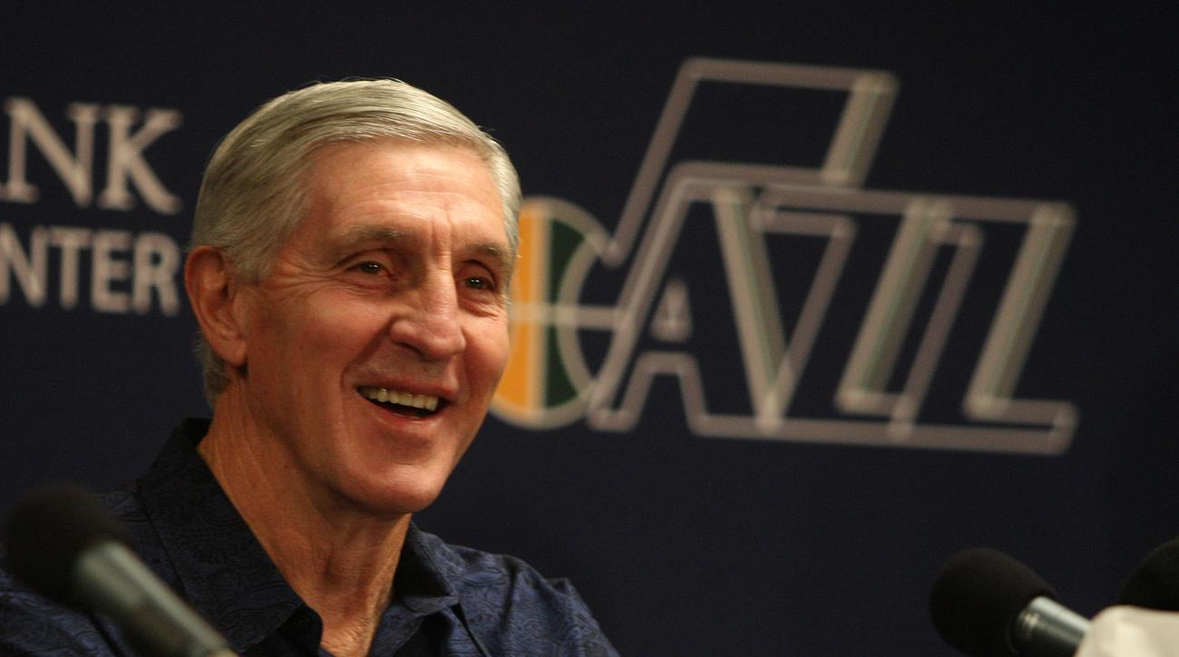 SALT LAKE CITY, UT - FEBRUARY 10:  Head Coach Jerry Sloan of the Utah Jazz during a press conference announcing his resignation effective immediately at Zions Basketball Center on February 10, 2011 in Salt Lake City, Utah. (Photo by Melissa Majchrzak/NBAE