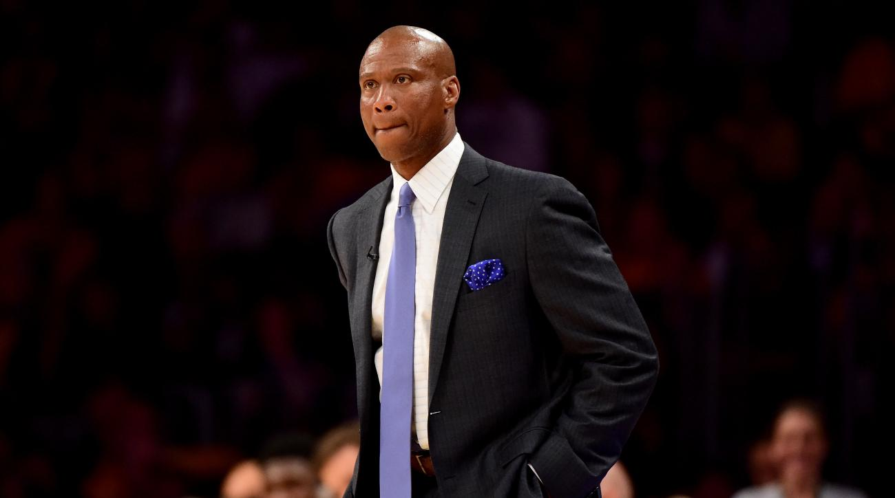 FILE - APRIL 25, 2016: It was reported that the Los Angeles Lakers have fired head coach Byron Scott after two seasons with team. LOS ANGELES, CA - APRIL 13:  Byron Scott of the Los Angeles Lakers looks on in the first half while taking on the Utah Jazz a