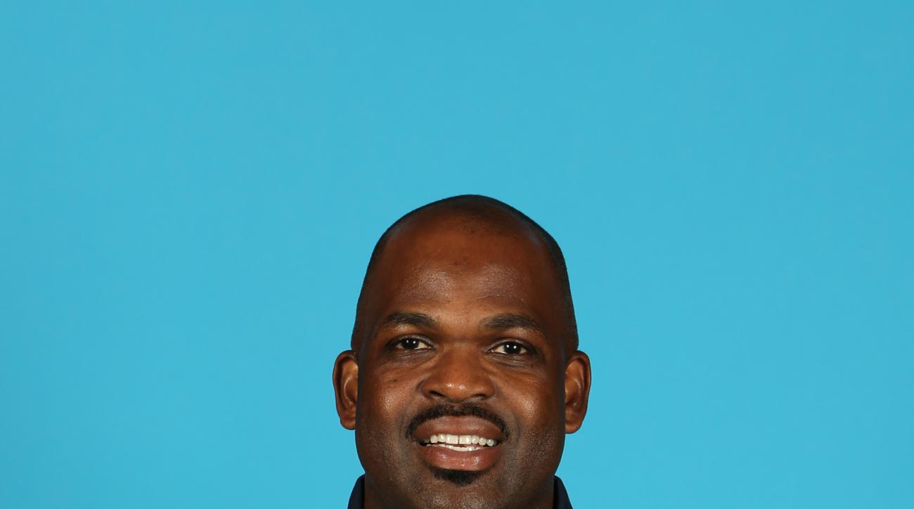 INDIANAPOLIS - SEPTEMBER 29:  Assistant coach Nate McMillan of the Indiana Pacers during the Pacers media day at Bankers Life Fieldhouse on September 29, 2014 in Indianapolis, Indiana.  (Photo by Ron Hoskins/NBAE via Getty Images)