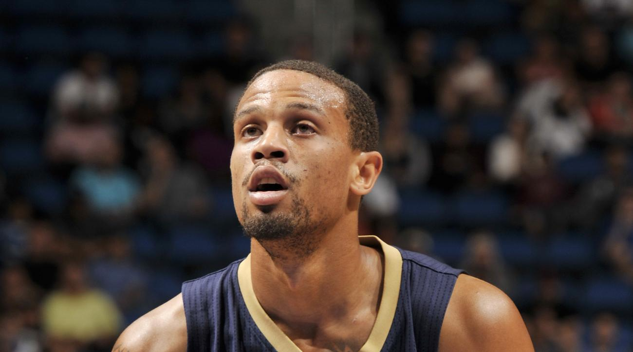 FILE - MAY 28, 2016: According to reports, Bryce Dejean-Jones died after a fatal gunshot wound to his abdomen on May 28, 2016 in Dallas, Texas. ORLANDO, FL - OCTOBER 21:  Bryce Dejean-Jones #31 of the New Orleans Pelicans shoots a free throw against the O
