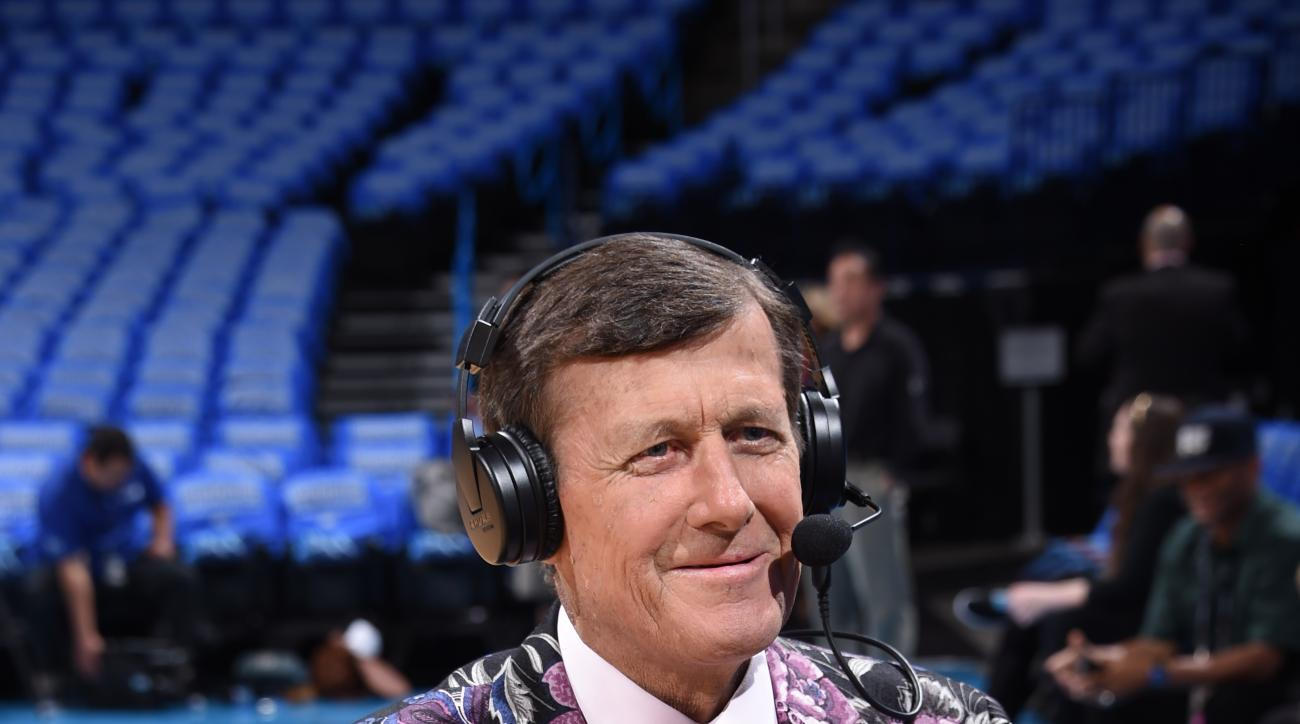 OKLAHOMA CITY, OK - MAY 28:  TNT reporter Craig Sager before Game Six of the Western Conference Finals between the Golden State Warriors and Oklahoma City Thunder during the 2016 NBA Playoffs on May 28, 2016 at Chesapeake Energy Arena in Oklahoma City, Ok