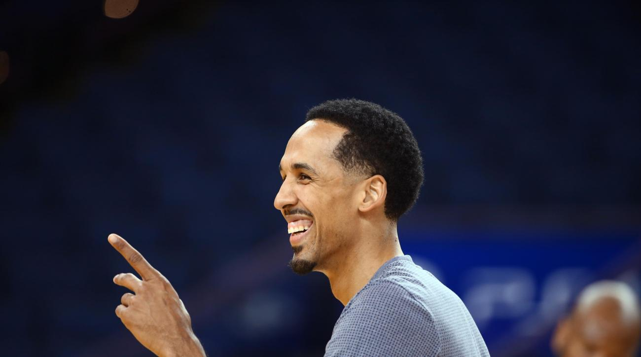 OAKLAND, CA - JUNE 3: Shaun Livingston of the Golden State Warriors participates during practice and media availability as part of the 2016 NBA Finals on June 3, 2016 at ORACLE Arena in Oakland, California. (Photo by Nathaniel S.Butler/NBAE via Getty Imag