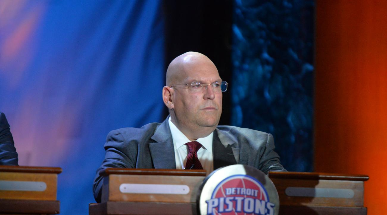 NEW YORK - MAY 19: Jeff Bower of the Detroit Pistons represents during the 2015 NBA Draft Lottery on May 19, 2015 at the New York Hilton Midtown in New York City.  (Photo by Jesse D. Garrabrant/NBAE via Getty Images)