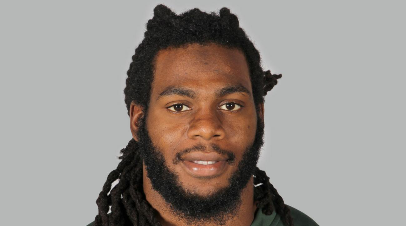 "FILE - A June 16, 2014, file photo is of New York Jets linebacker Jermaine Cunningham in Forham Park, N.J.  When Cunningham appears in a New Jersey courtroom, he'll be the most recognizable defendant yet facing charges over ""revenge porn."" The case comes"