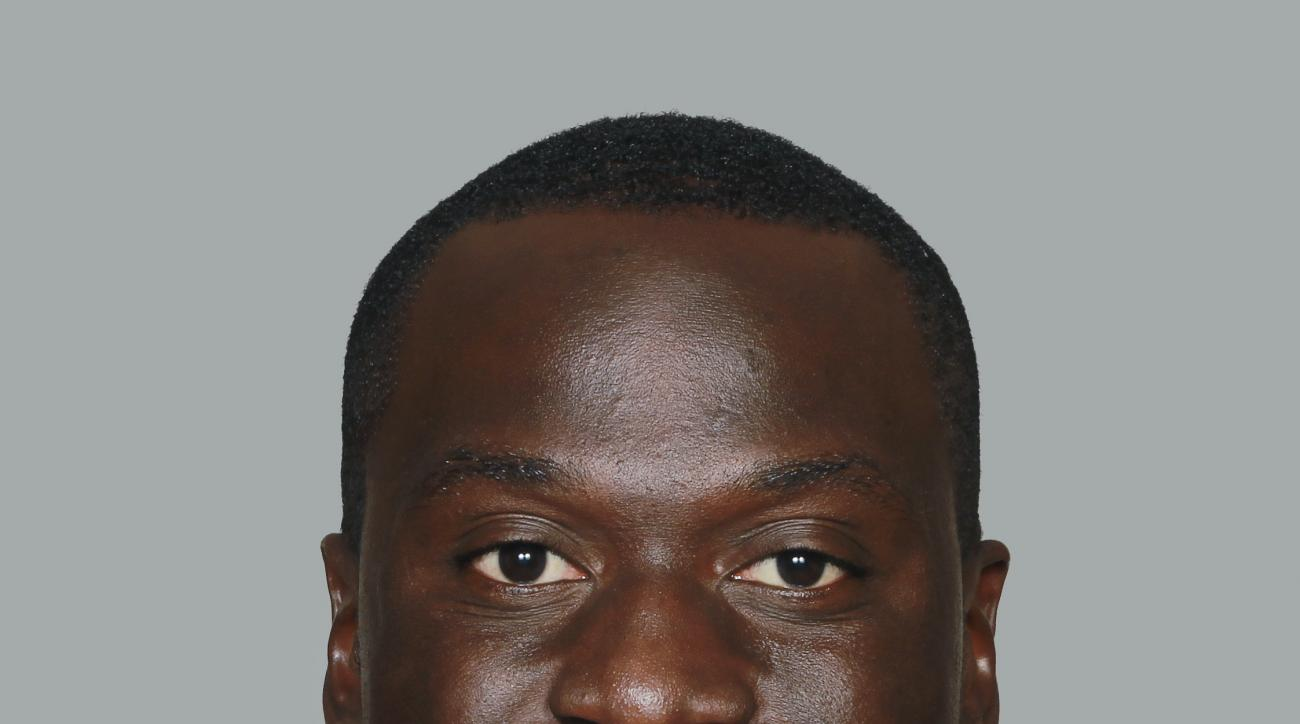 FILE - This June 15, 2014, file photo, Atlanta Falcons linebacker Prince Shembo. Police have charged Shembo with aggravated animal cruelty after his girlfriend's dog died from blunt force trauma. Gwinnett County police said in a news release that they obt