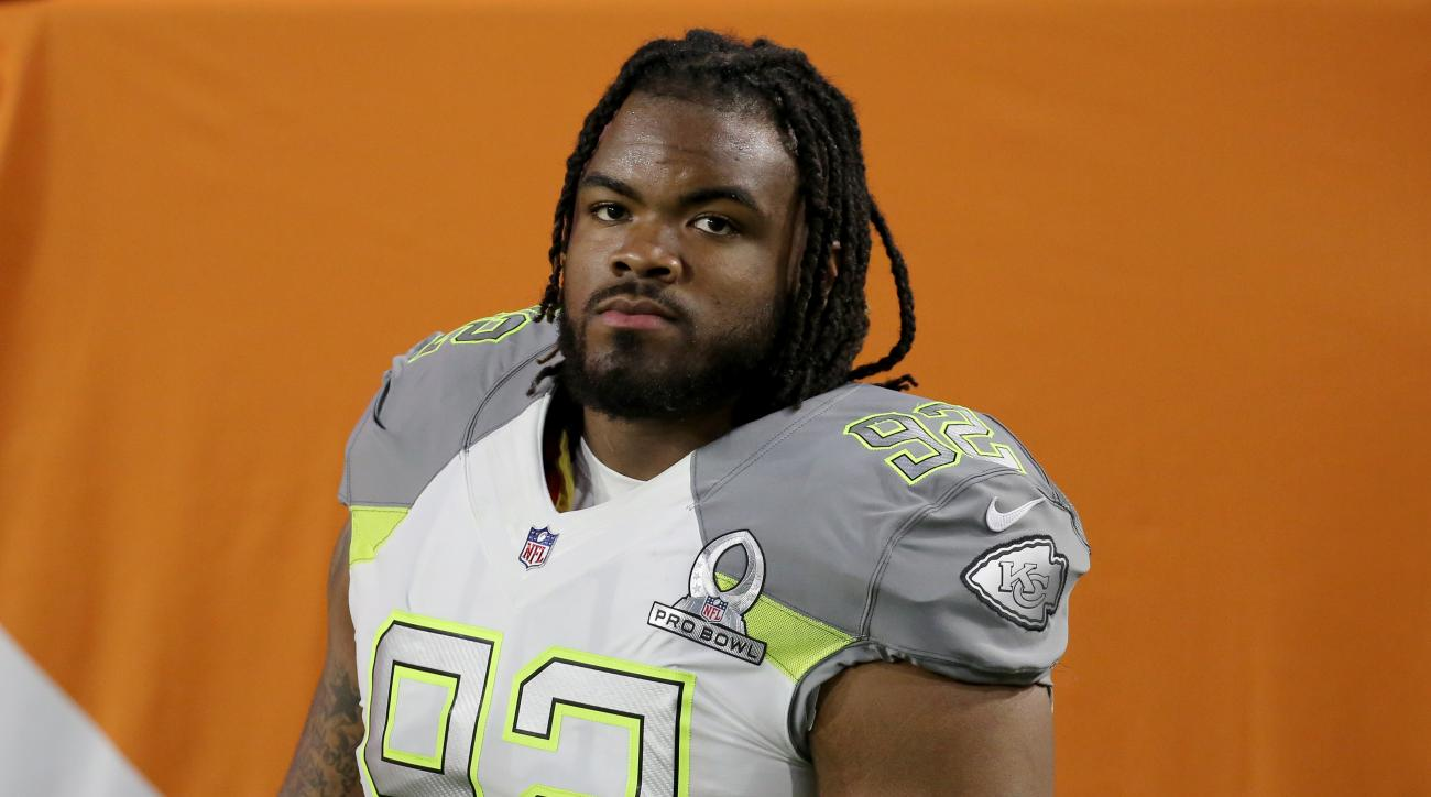 Team Carter's Dontari Poe #92 is seen against Team Irvin during the NFL Pro Bowl Game on Sunday, January 25, 2015 in Glendale, AZ. Team Irvin won the game (AP Photo/Gregory Payan)