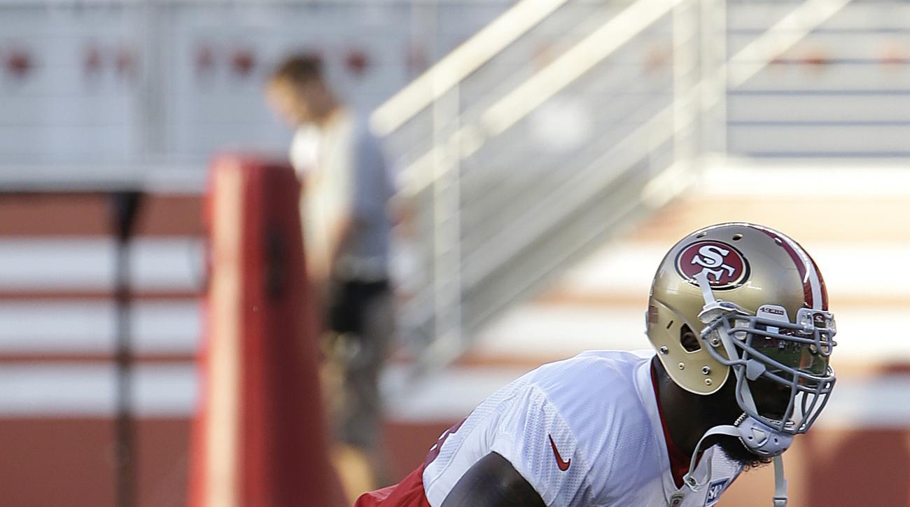 San Francisco 49ers linebacker NaVorro Bowman (53) practices during the team's NFL football training camp in Santa Clara, Calif., Saturday, Aug. 1, 2015. (AP Photo/Jeff Chiu)