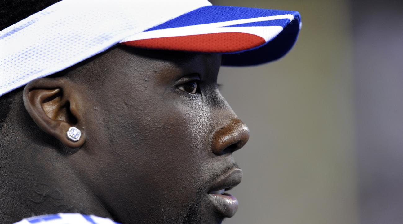 FILE - This is an Aug. 28, 2014, file photo showing New York Giants' Jason Pierre-Paul during the second half of an NFL pre-season football game between the New England Patriots and the Giants in East Rutherford, N.J. The Giants finally have spoken with d